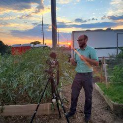 Viedo shoot at the community garden